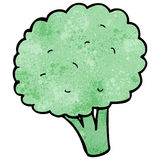 Cartoon broccoli, Royalty Free Stock Images