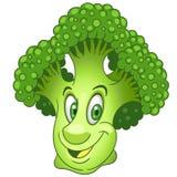Cartoon Broccoli character Stock Photography