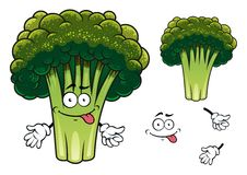Cartoon broccoli character Stock Photo