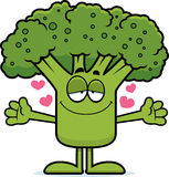 Cartoon Broccoli Hug Stock Images