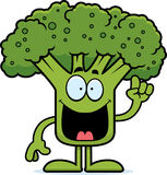 Cartoon Broccoli Idea Stock Image