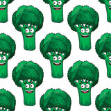 Cartoon broccoli seamless pattern Stock Photo