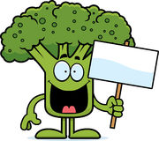 Cartoon Broccoli Sign Royalty Free Stock Photography