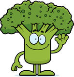 Cartoon Broccoli Waving Royalty Free Stock Photography