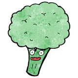 Cartoon brocolli Stock Image