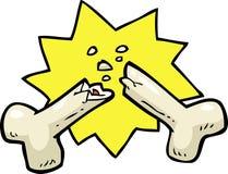 Cartoon broken bone Royalty Free Stock Image