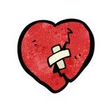 Cartoon broken heart Royalty Free Stock Photos