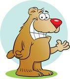 Cartoon Brown Bear Stock Image