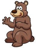 Cartoon brown bear Royalty Free Stock Photos