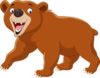 Cartoon brown bear isolated on white background. Illustration of Cartoon brown bear isolated on white background Stock Photos