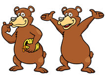 Cartoon brown bear Royalty Free Stock Images