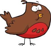 Cartoon brown bird Stock Photography