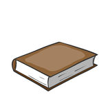 Cartoon brown book. Royalty Free Stock Images