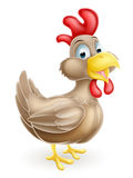Cartoon Brown Chicken Royalty Free Stock Photos
