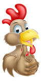 Cartoon Brown Chicken Stock Photos