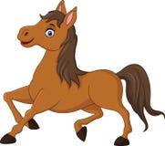 Cartoon brown horse running Stock Photo
