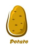 Cartoon brown organic potato vegetable Royalty Free Stock Photography