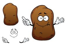 Cartoon brown potato vegetable character Royalty Free Stock Image