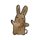 Cartoon brown rabbit Royalty Free Stock Photos