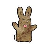 Cartoon brown rabbit Stock Photo