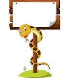 Cartoon brown snake Stock Photo