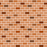 Cartoon brown wall brick seamless pattern background illustration Stock Photography