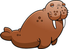 Cartoon Brown Walrus Stock Image