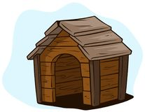 Free Cartoon Brown Wooden Dog House, Kennel Vector Icon Stock Image - 116957011
