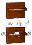 Cartoon brown wooden piano character Royalty Free Stock Photography