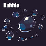 Cartoon bubble on back background Royalty Free Stock Image