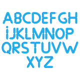 Cartoon bubble font. Colorful letters with glint. Balloon alphabet A through Z.  Royalty Free Stock Photography