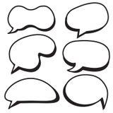 Cartoon bubbles set. Comic style speech bubbles collection. Funny design vector items illustration Stock Image