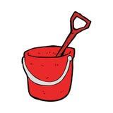 Cartoon bucket and spade Stock Photos