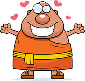 Cartoon Buddhist Monk Hug Stock Images