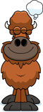 Cartoon Buffalo Dreaming Stock Image