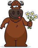 Cartoon Buffalo Flowers Stock Image