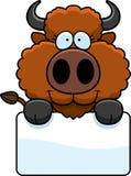 Cartoon Buffalo Sign Royalty Free Stock Image
