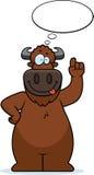 Cartoon Buffalo Thinking Stock Photo