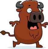 Cartoon Buffalo Walking Stock Photography
