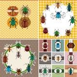 Cartoon bug card Royalty Free Stock Photography