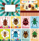 Cartoon bug card Royalty Free Stock Photos