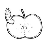 Cartoon bug eating apple Royalty Free Stock Photos