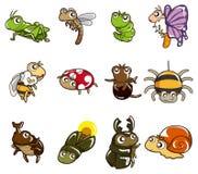 Cartoon Bug Icon Royalty Free Stock Photos