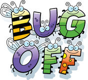 Cartoon Bug Off Text Stock Photo