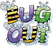 Cartoon Bug Out Text Stock Photography