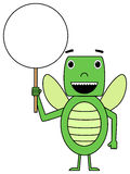 Cartoon bug with placard Stock Images
