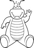 Cartoon Bug Sitting Stock Images