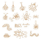 Cartoon bugs set. Stock Photos