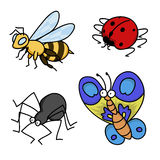 Cartoon Bugs Set Stock Image
