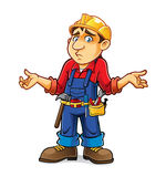Cartoon Builder Regret Stock Photography